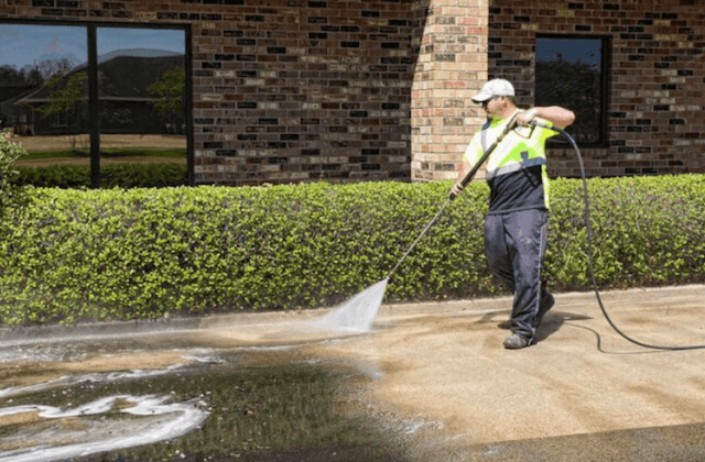 commercial concrete cleaning in grand rapids